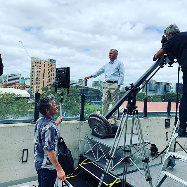 First day of filming The Greatest Air Race doco with former @NASA astronaut Andy Thomas in #Adelaide.