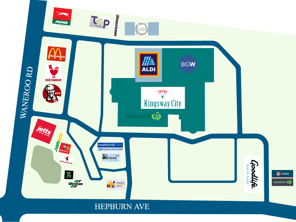 Kingsway Mall Map All Stores — Kingsway City