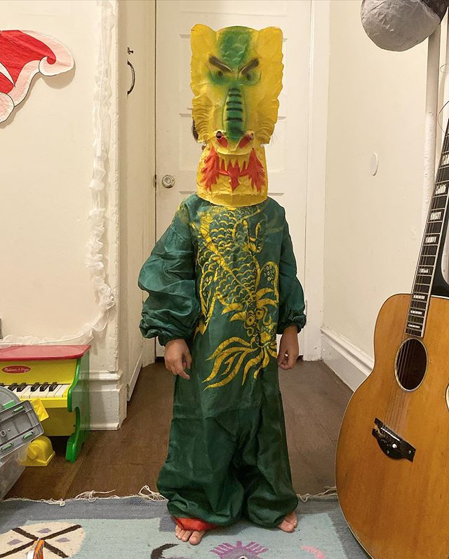 Happy Halloween! Here is Casper in a late 1940's dragon costume on the very best day of the year.