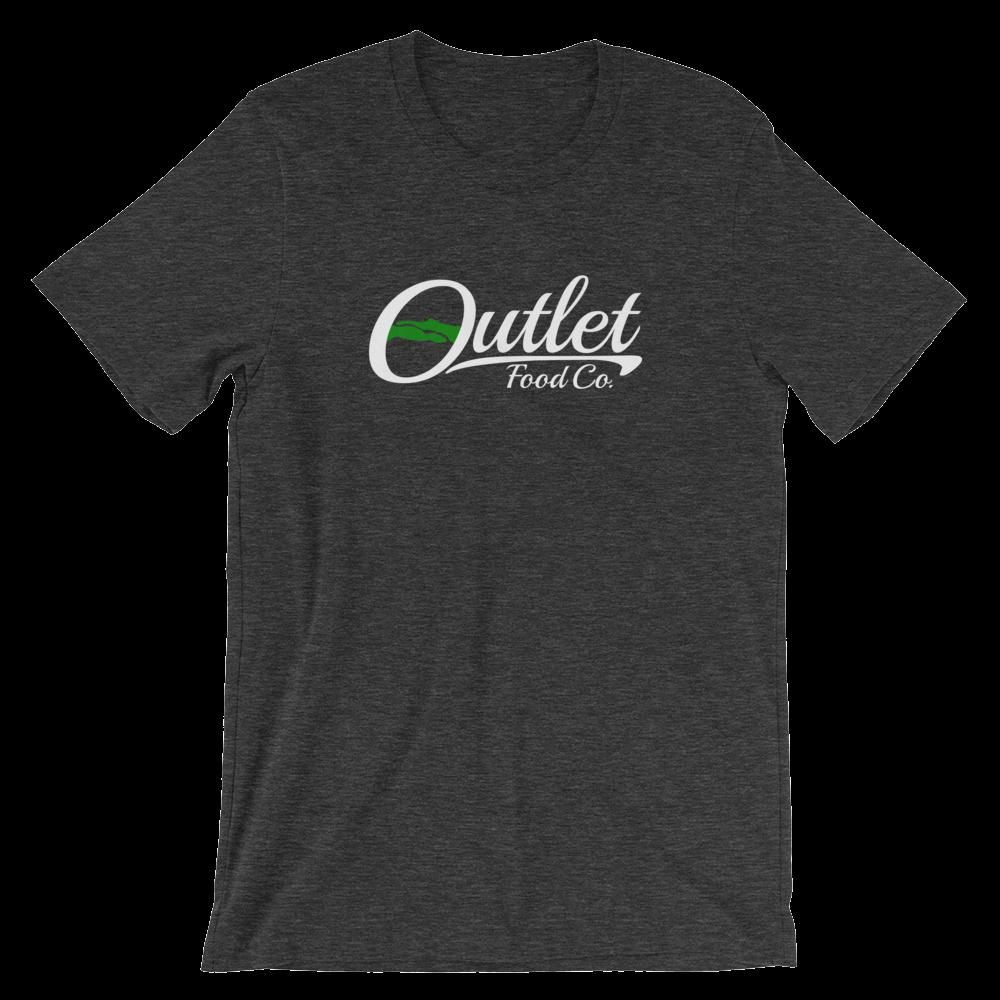 $29 - Outlet logo on dark grey heather (S, M, L, XL)