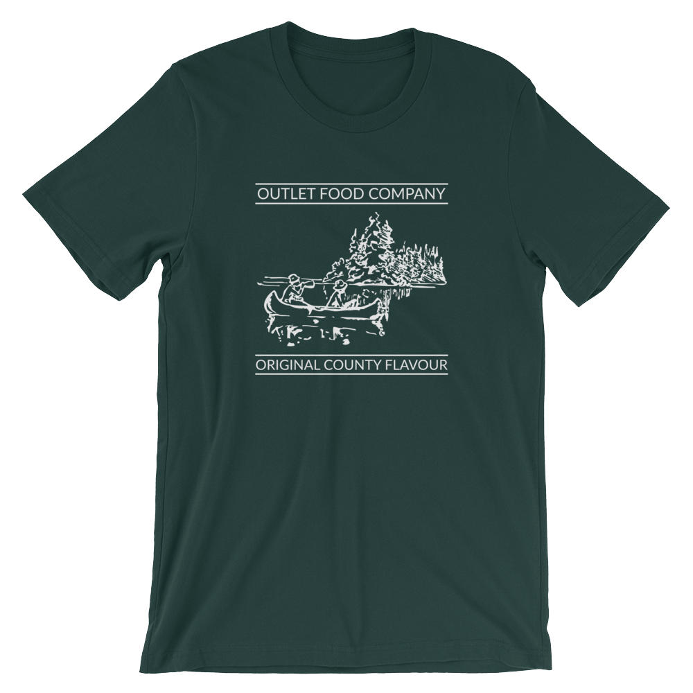 $29 - Outlet river on forest green (S, M, L, XL)