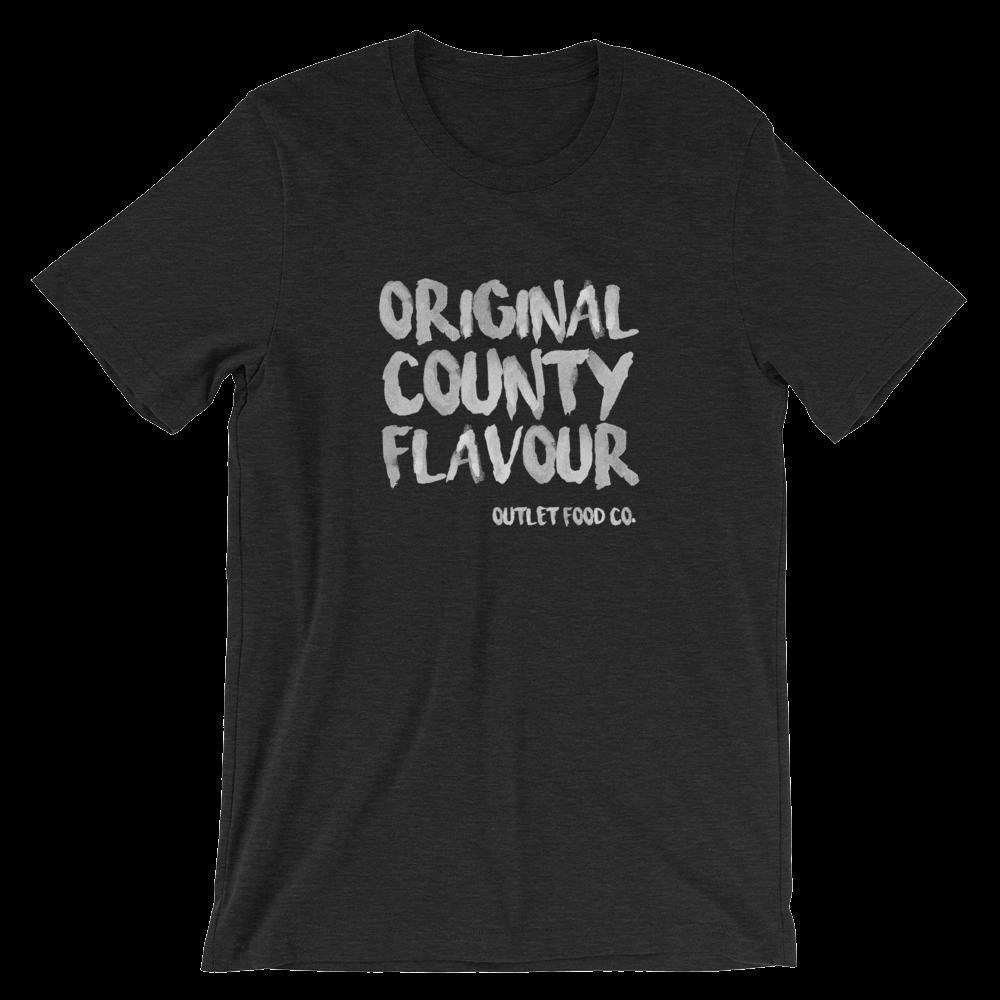 $29 - Original County Flavour on black heather (S, M, L, XL)