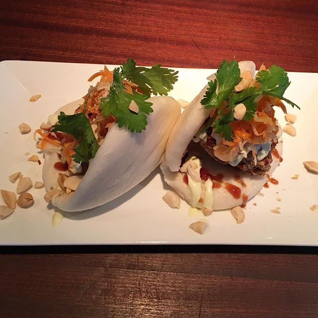 Have you tried our famous Bao buns? Filled with crispy fried chicken, green papaya salad, peanuts, and two different sauces it's no wonder it's become a customer favorite! Join us in Hanalei for a taste of perfection 😍 . . . #amahanalei #baobuns #friedchicken #getinmybelly #delicious #onolicious #hawaiieats #hawaiirestaurant #kauai #kauaifood #kauaieats #kauairestaurants #hanalei #steambuns