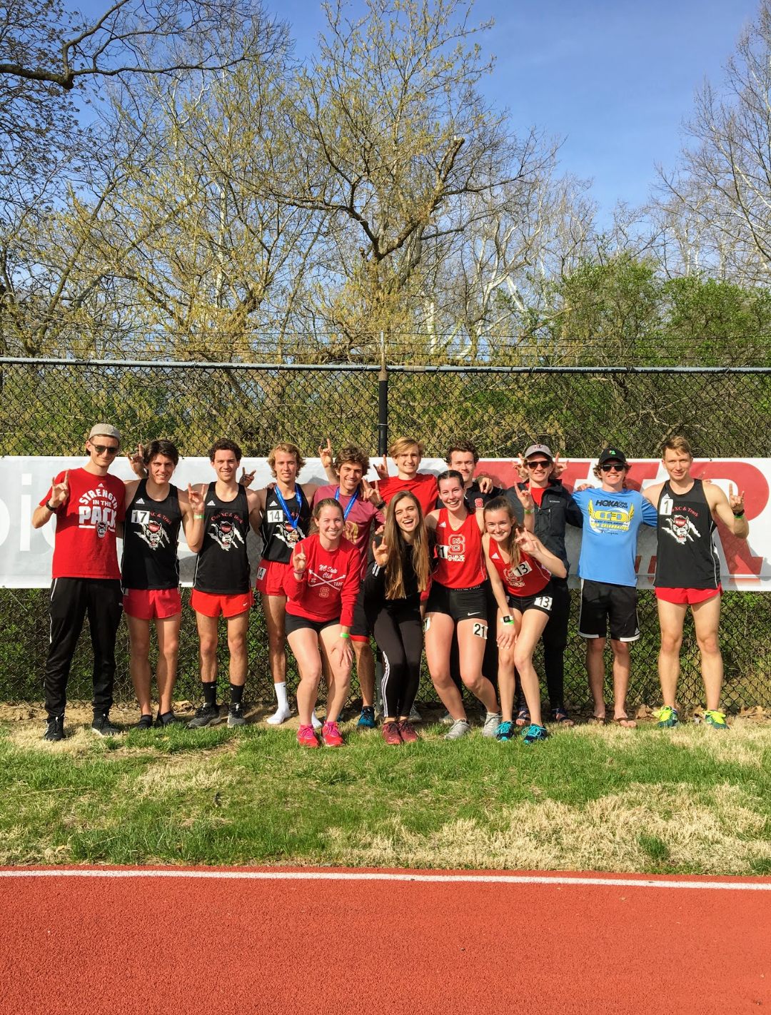 Men's and women's participants after the 2019 NIRCA National Track Championship meet in Oxford, OH