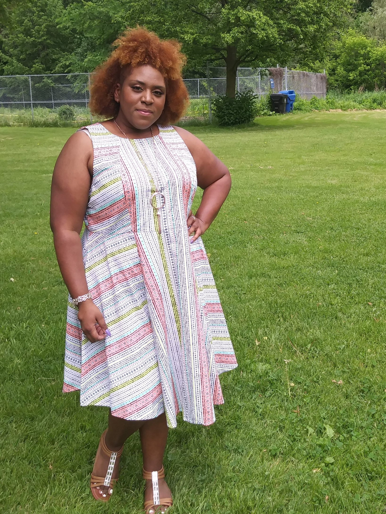 Alesha Anchundia, Founder of Curvy Runner Girl in Toronto, ON, Canada, on June 2, 2018 (Size 20)