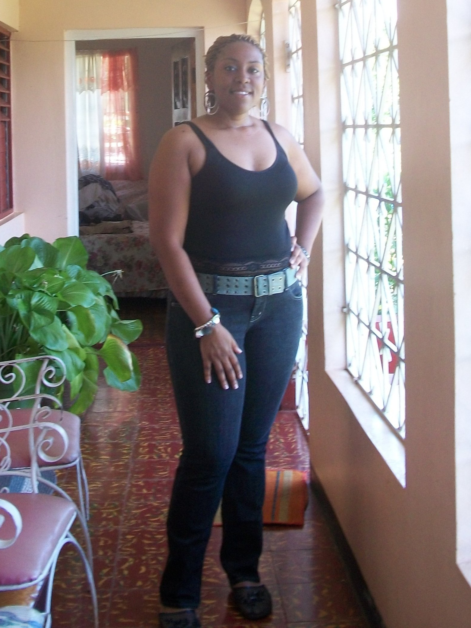 Alesha 6 months after my 1st 5k in Santa Cruz, ST. Elizabeth, Jamaica; September 2009