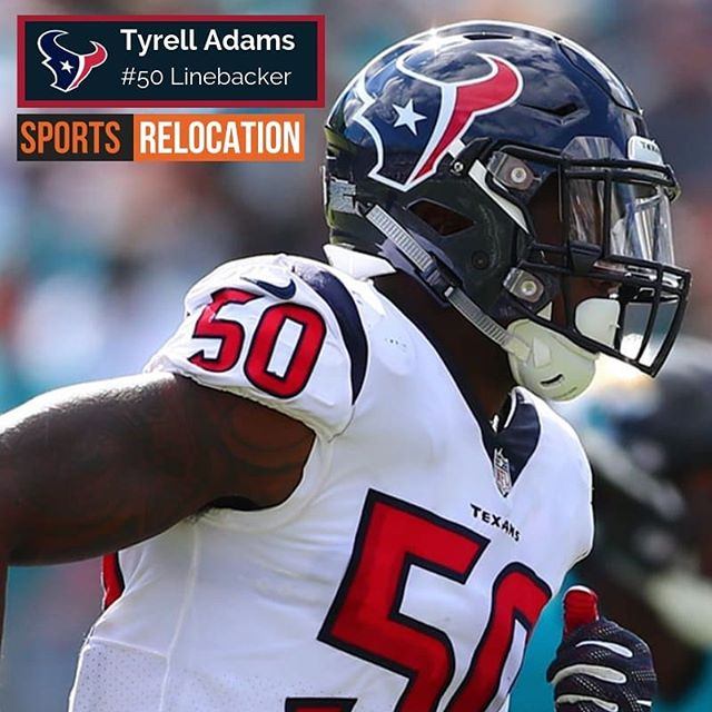 """A1 service!!!!"" That's what @HoustonTexans LB Tyrell Adams said about his last #athleterelocation experience with our team. So guess you pretty much know who he turned to again the next time he needed help. Thank you so much @tyrelldms for another opportunity to assist you! (Image Credit: houstontexans.com) #athleteconciergegroup #sportsrelocation #sportsandentertainment #nfl #nationwide #houstontexans #texans #conciergeintl #sportsrealtor #athleterealtor #athleterealestate #sportsrealestate #nbarealtor #nflrealtor"