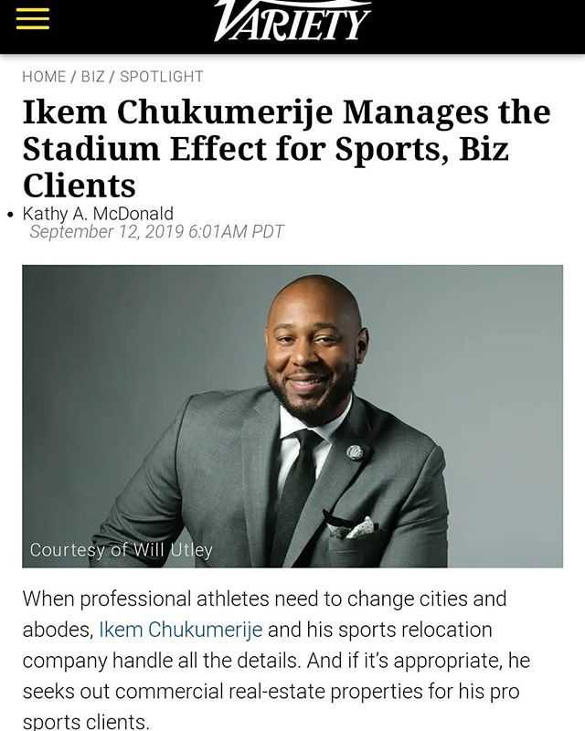 Congrats to The Boss @milliondollarliving for another feature, this time being recognized by @Variety for his work in the Sports and Entertainment + Commercial Real Estate space. #athleteconciergegroup #sportsrelocation #commercialrealestate #commercialrealtor  #nfl #nationwide #conciergeintl #proathleterealtor #sportsrealtor #athleterealtor #proathleterelocation #sportsandentertainment #athleterealestate #sportsrealestate #nbarealtor #nflrealtor