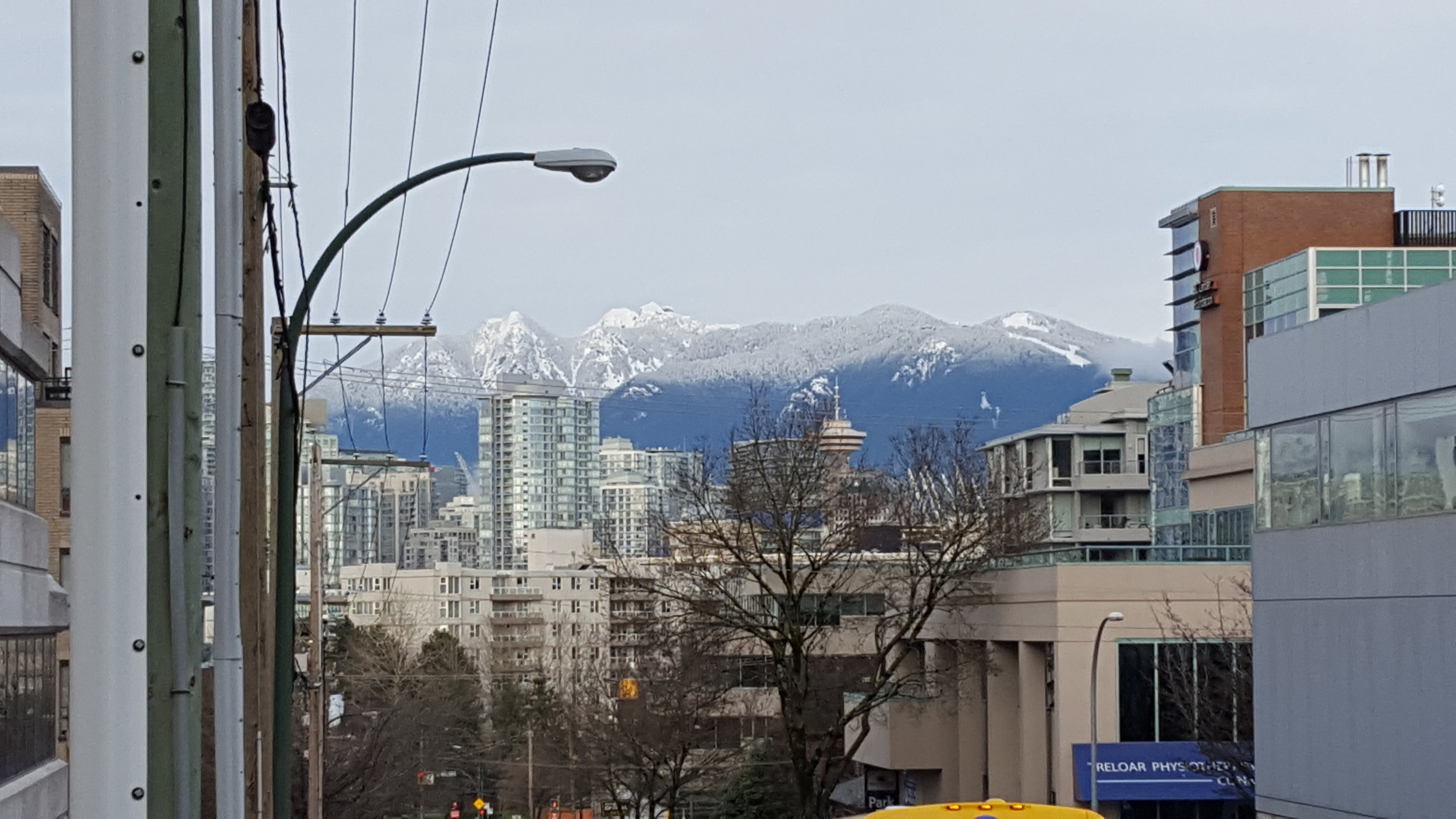 Snowy mountains of Vancouver