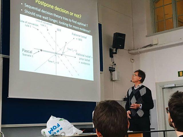 """Igår gick Credo på föreläsning """"God or no God - A Mathrmatician's Journey Into Religious Decisions""""  av Ola Hössjer, kristen professor i matematik på Stockholms Universitet. Inspirerande!  #credo #su #matematik #engagingtheuniversity"""