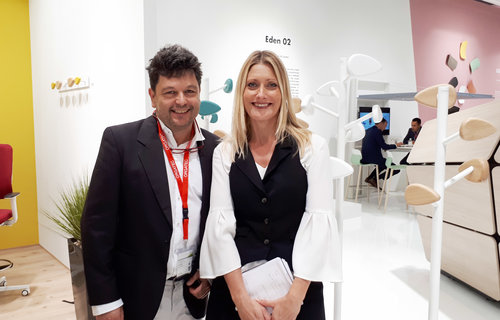 Bruno Houssin and Nathalie Ménardais, marketing director at SOKOA