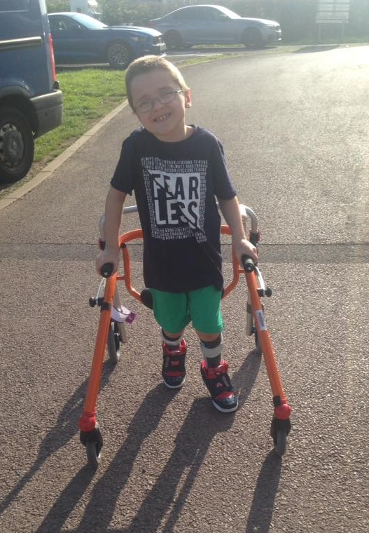 Harry can now spend time out of his wheelchair following his operation