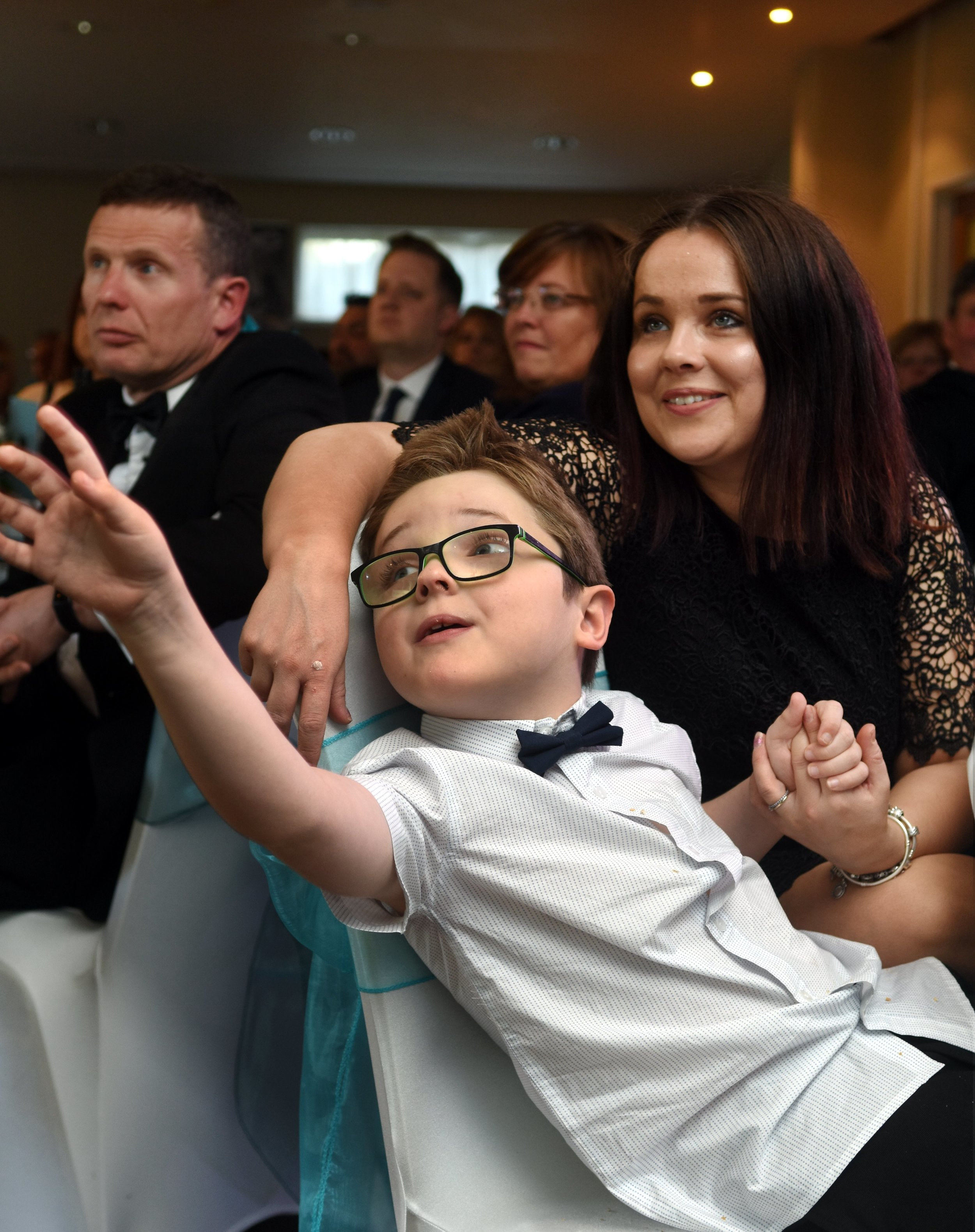 Young Harry with his mum, Sasha