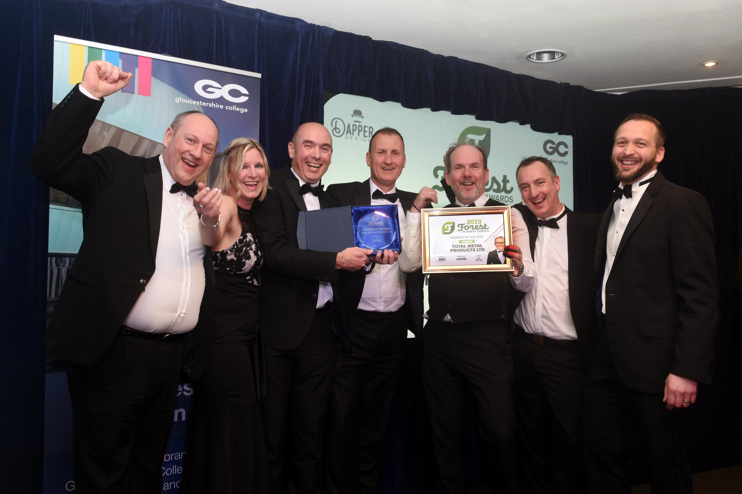WINNERS OF THE BUSINESS OF THE YEAR AWARD - TOTAL METAL PRODUCTS LTD