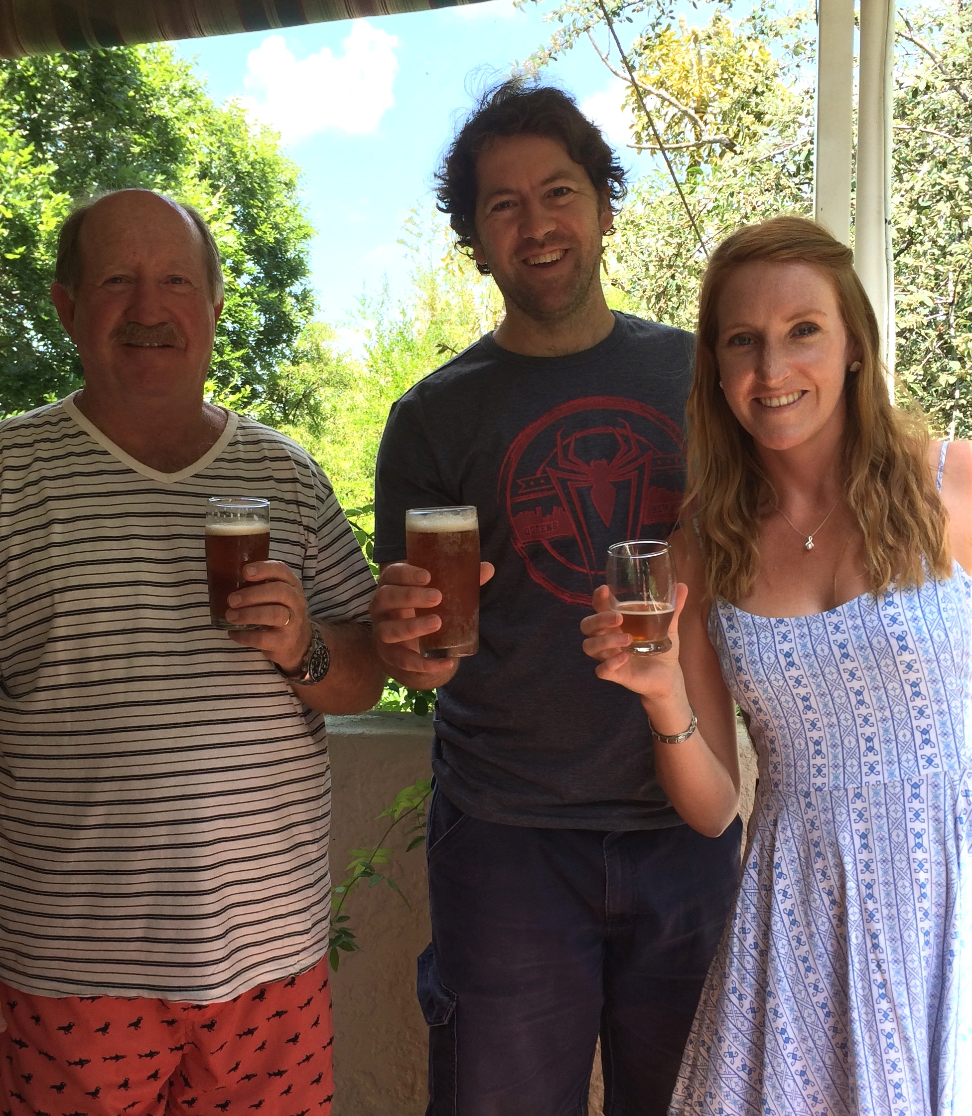 Frigid Isles Brewing team L-R: Mac du Toit, Nico de Bruyn and Kate du Toit.