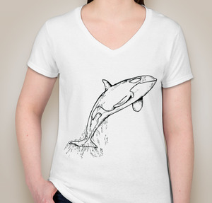 V-neck T-shirt Ladies  option 6