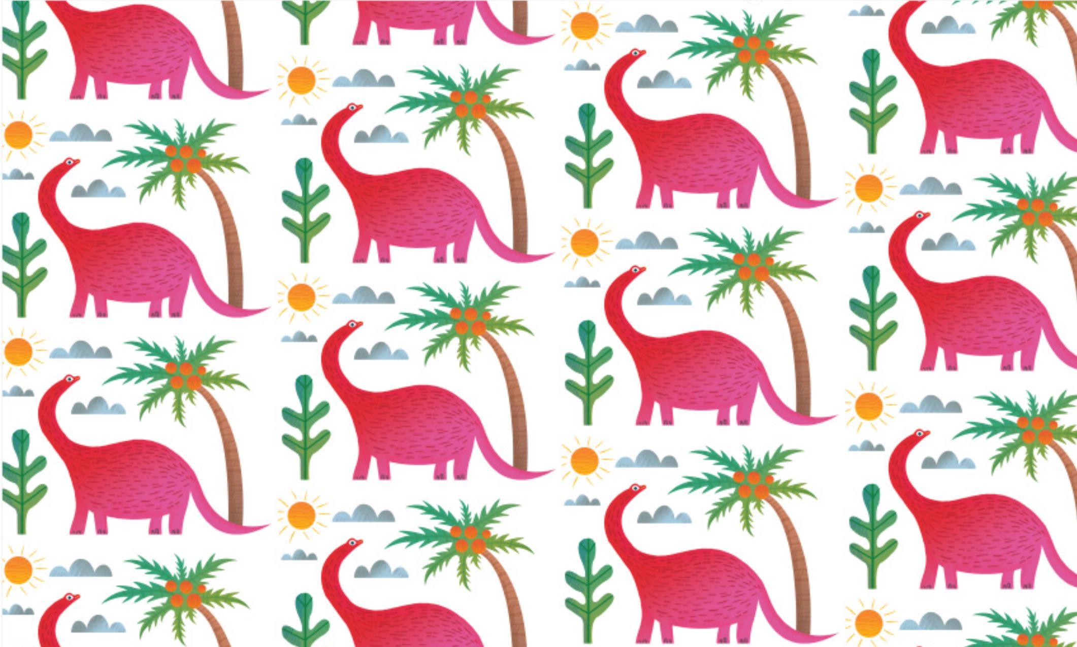 Pink dinosaurs pattern