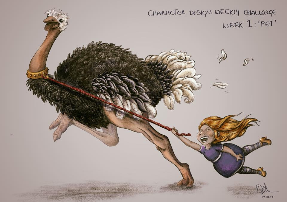 Danni Smith Art - Alice and ostrich.jpg