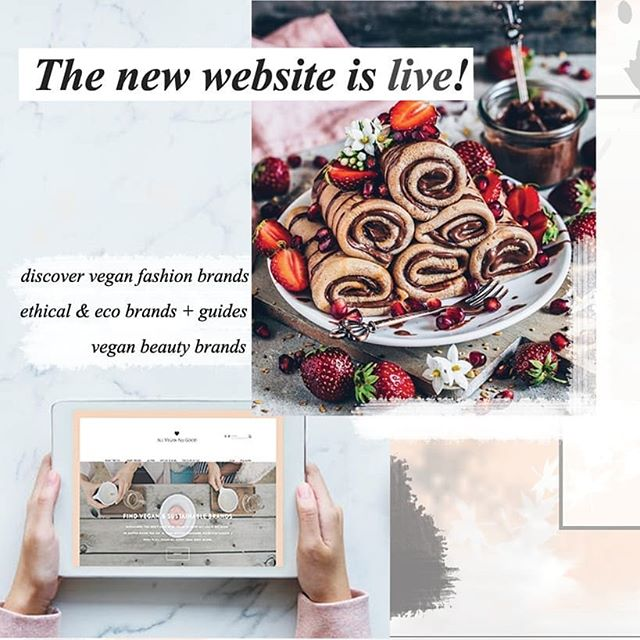 I am so excited, because the new website is finally up and running! 🎉 Click on insta bio or type in avag.co for #vegan fashion & beauty brands as well as ethical & sustainable brands and guides! 😍 Let me know what you think in the comments 💛 I have tons of content coming to the site so make sure you will be checking it regularly 🌸  Will celebrate tonight with pancakes that won't look anywhere near as good as @biancazapatka but I freakin love her food photos so I rather share this pic and eat my crappy looking (but still good!) pancakes 😋 #veganfashion #veganbeauty #veganstyle #ethicalfashion #veganfood