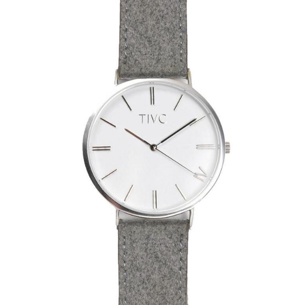 TIVC - GREY SUEDE STITCHED BAND