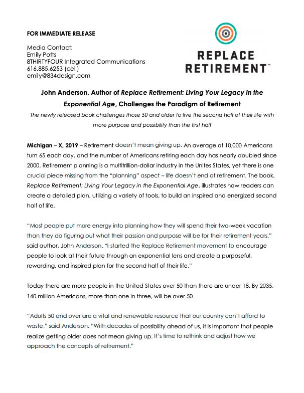 Replace Retirement Press Release