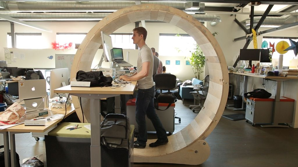 Will Doenlen Hamster Wheel Standing Desk