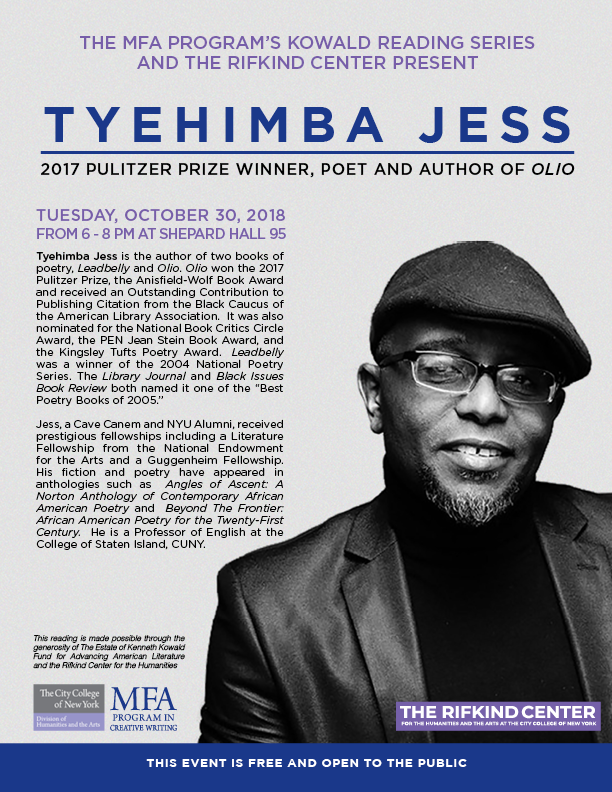 TYEHIMBA JESS READING — THE RIFKIND CENTER