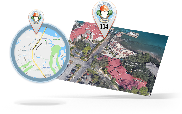 We are located in Palmetto Bay Marina on the docks across from One HHI and Pirates HHI. - See the contact page for more information.