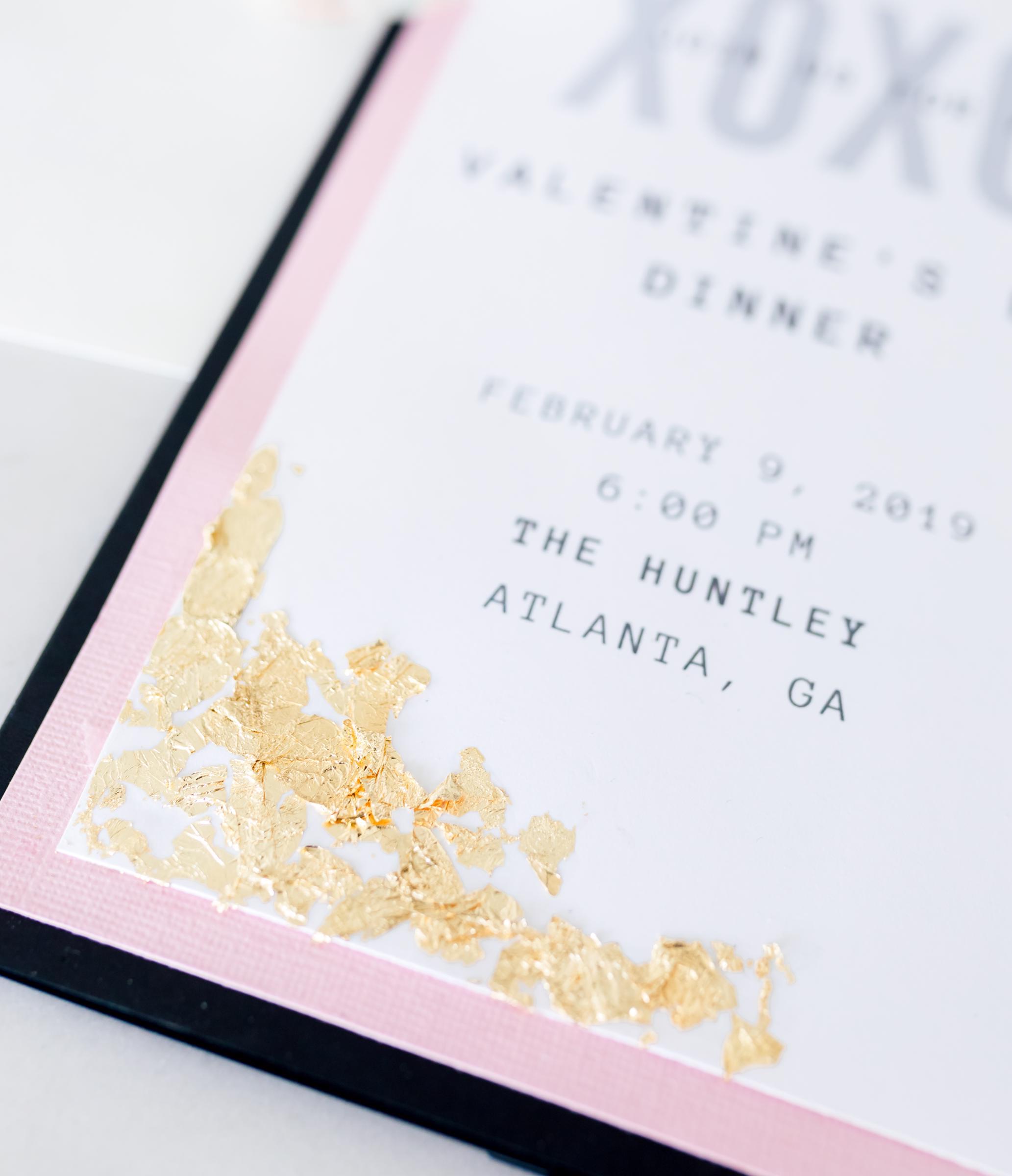Gray Sage Valentine Invitation