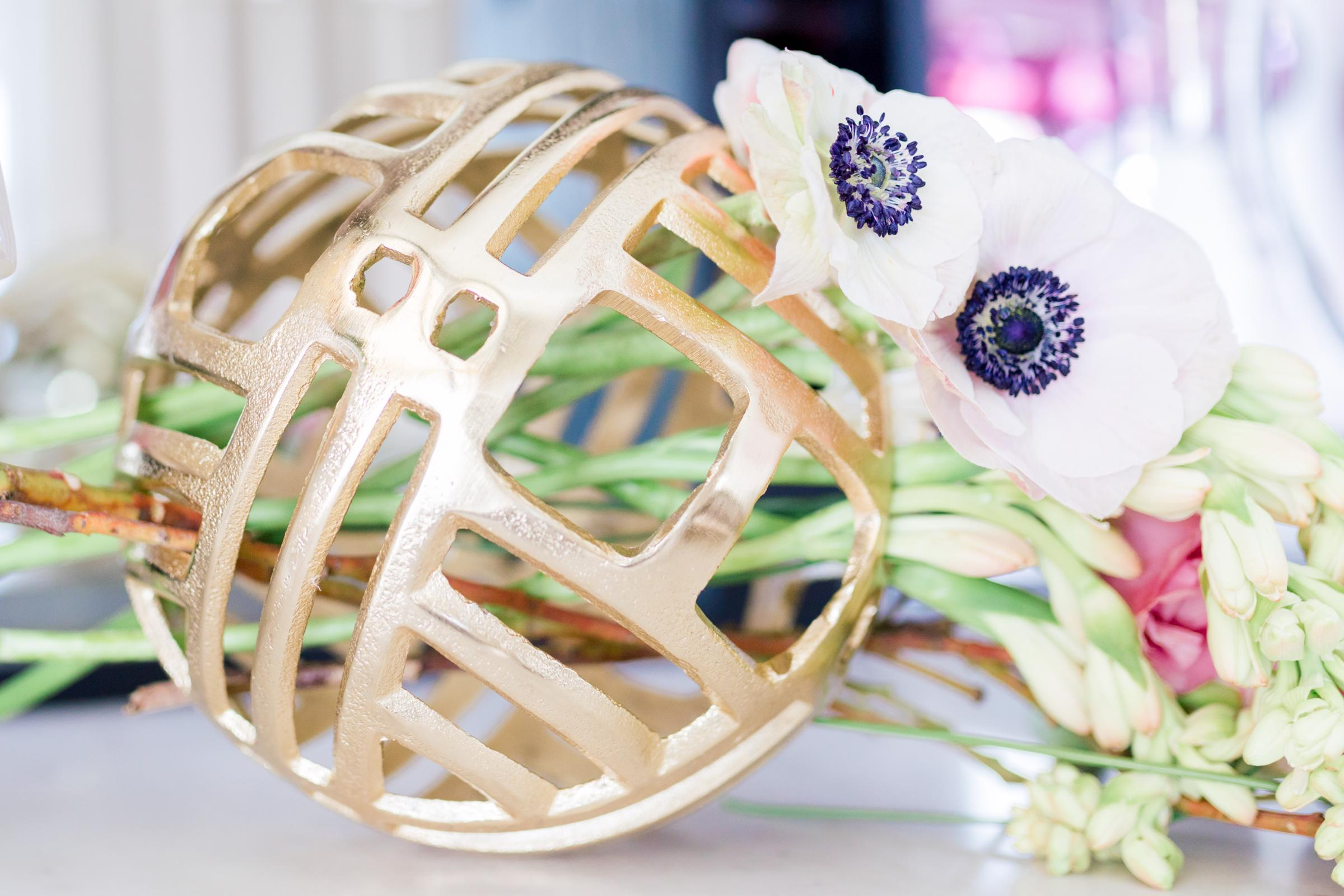 Gray Sage Event Planning Flower Ball