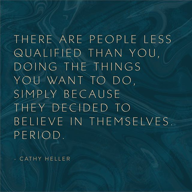 Our beliefs become our realities. What story are you telling yourself that's preventing you from chasing your dream? For a long time mine was I have to settle, things have to be hard, it's too overwhelming, I have no idea what I'm doing. ⠀⠀⠀⠀⠀⠀⠀⠀⠀ Focus on the why, not the how. The how only becomes clear once you get moving! Believe you can do it, take the next right feeling action, and you will figure it all out step by step. Amazing resources, people and teachers will fall into your lap when you just release the emergency brake. ⠀⠀⠀⠀⠀⠀⠀⠀⠀ What would you be doing if you believed you would be successful? Can you take just one step today to get closer to that dream? ⠀⠀⠀⠀⠀⠀⠀⠀⠀ Please tag two friends who deserve to hear this :) ⠀⠀⠀⠀⠀⠀⠀⠀⠀ If you don't already listen to the Don't Keep Your Day Job Podcast, run don't walk and subscribe. It has changed my life and keeps me inspired every week. ⠀⠀⠀⠀⠀⠀⠀⠀⠀ @cathy.heller