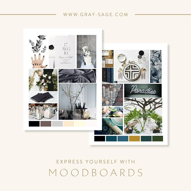 Mood boards are a fabulous tool to bring out your innate personality and artistry. When you have a million design ideas swirling through your head and you start getting overwhelmed, simply pull together a mood board to frame up your vision as a cohesive story. Express yourself visually through feelings, colors, and textures. Having fun in the process should be the number one priority! If you want some tips to get started, download my free guide and template via the link in my bio. #moodboard #eventdesign #inspiration