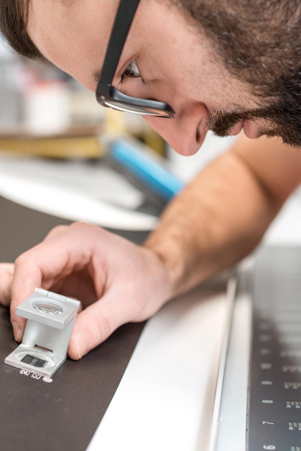 Digital's Print Production Team On Press Check