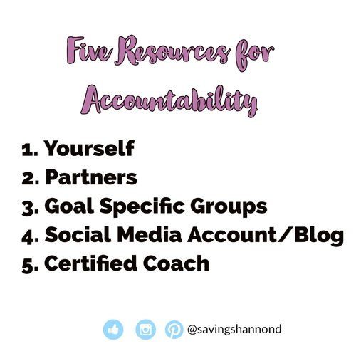 Accountability partners are great to help you meet your goals, but, you also need to belief in yourself, first and foremost.