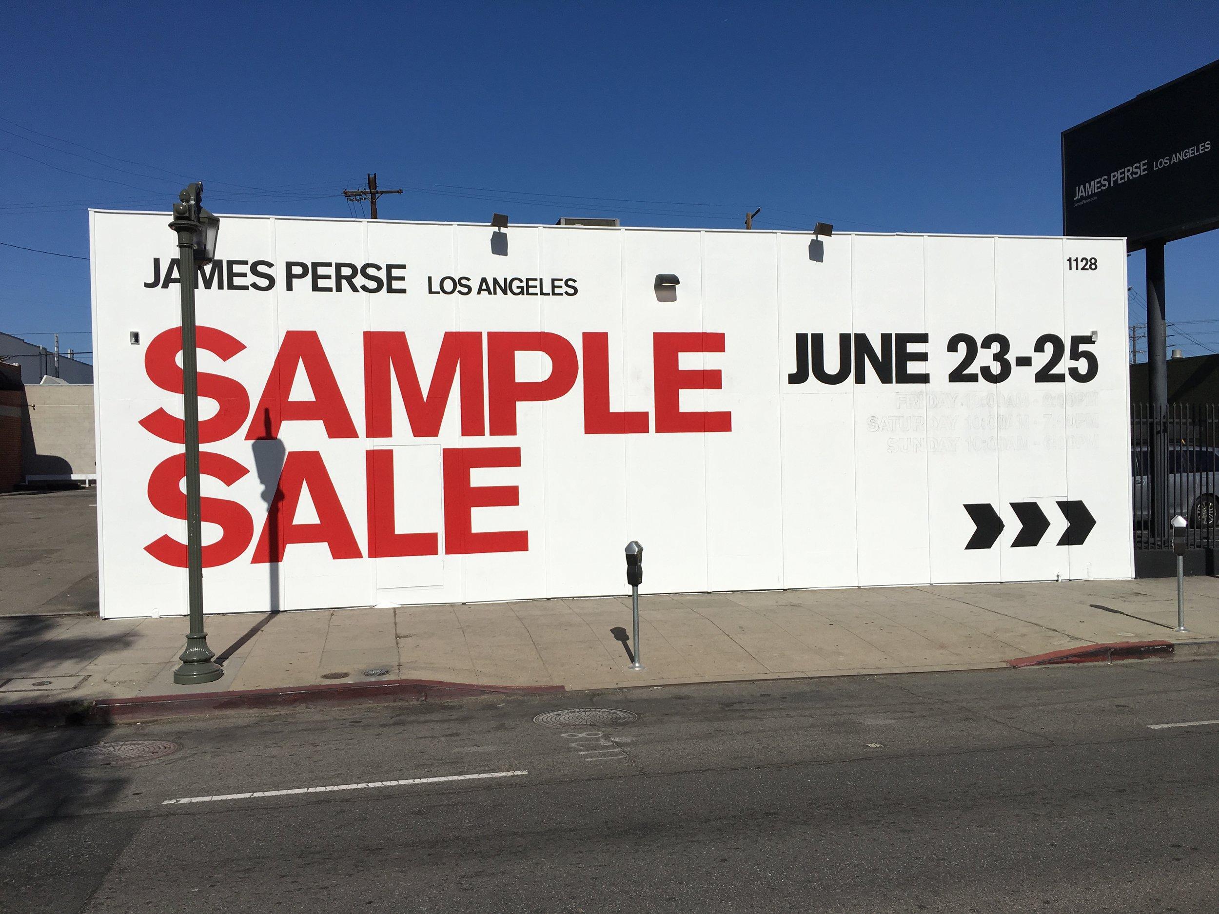 James Perse - Sample Sale