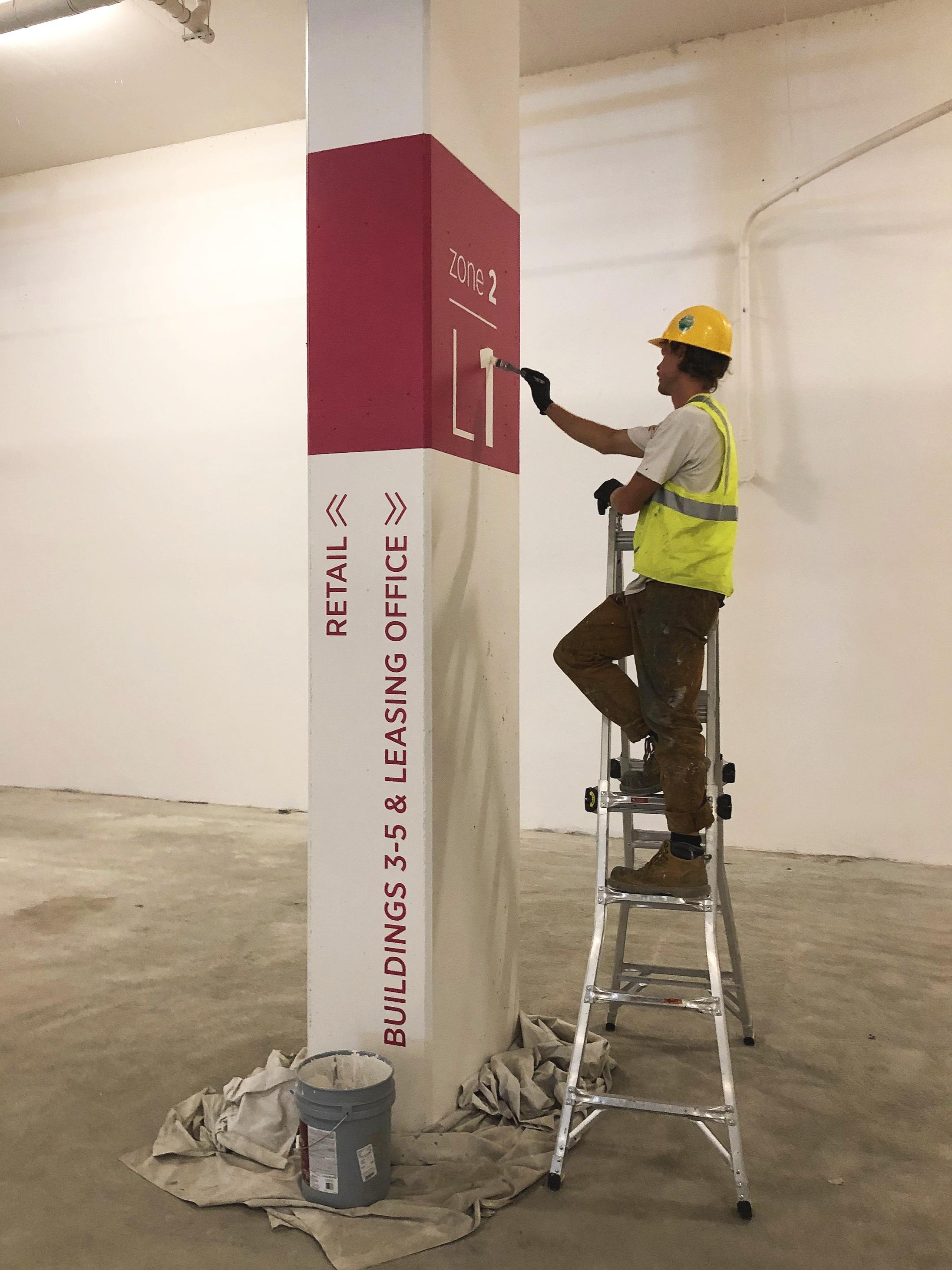 Directional Column Signage - AVA Hollywood