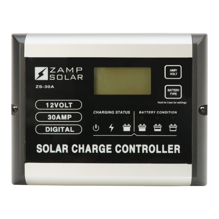 30-Amp 5-Stage PWM Charge Controller - PART NUMBER: ZS-30A