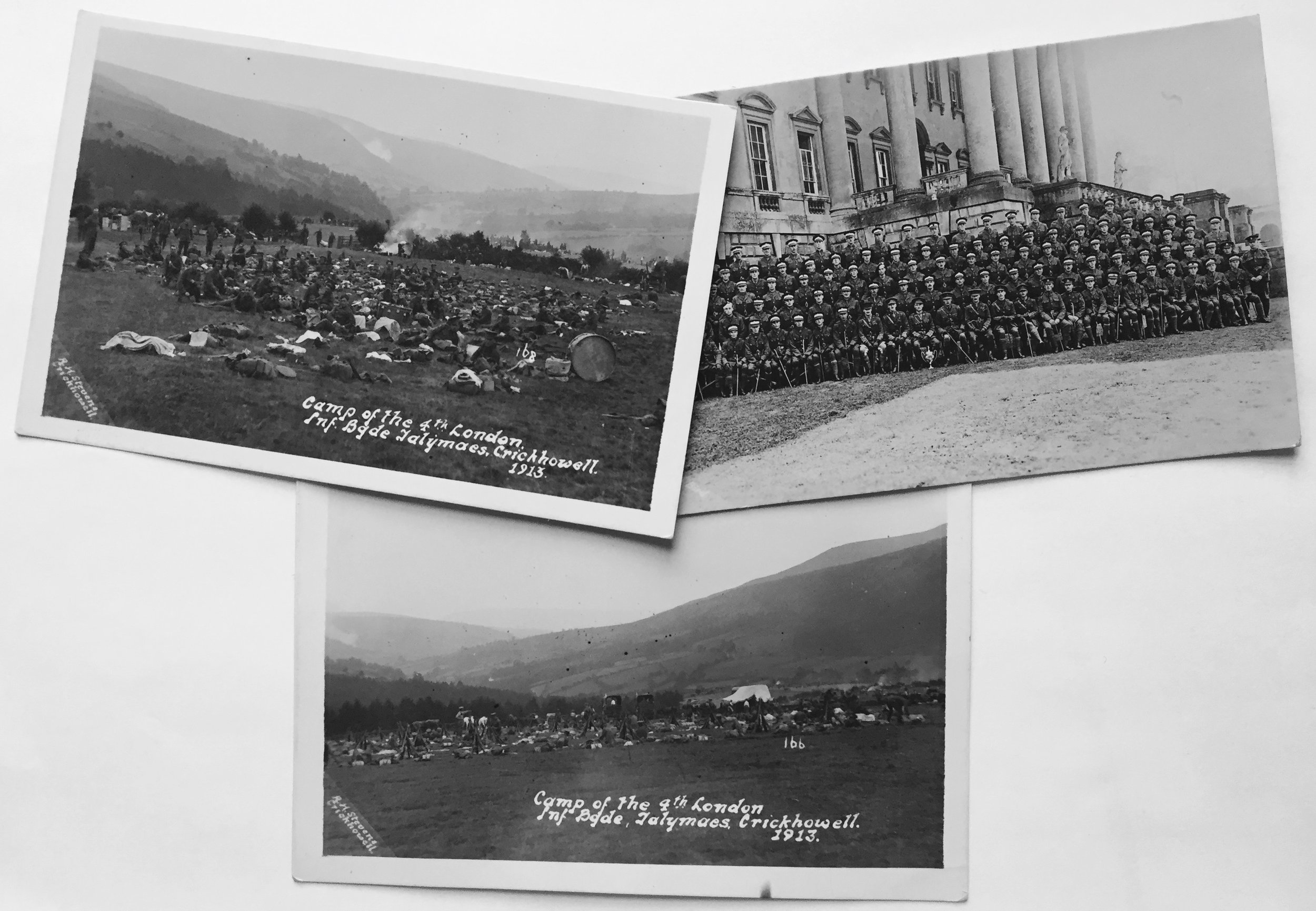 Camp of the 4th London Infantry Brigade, Crickhowell 1913.