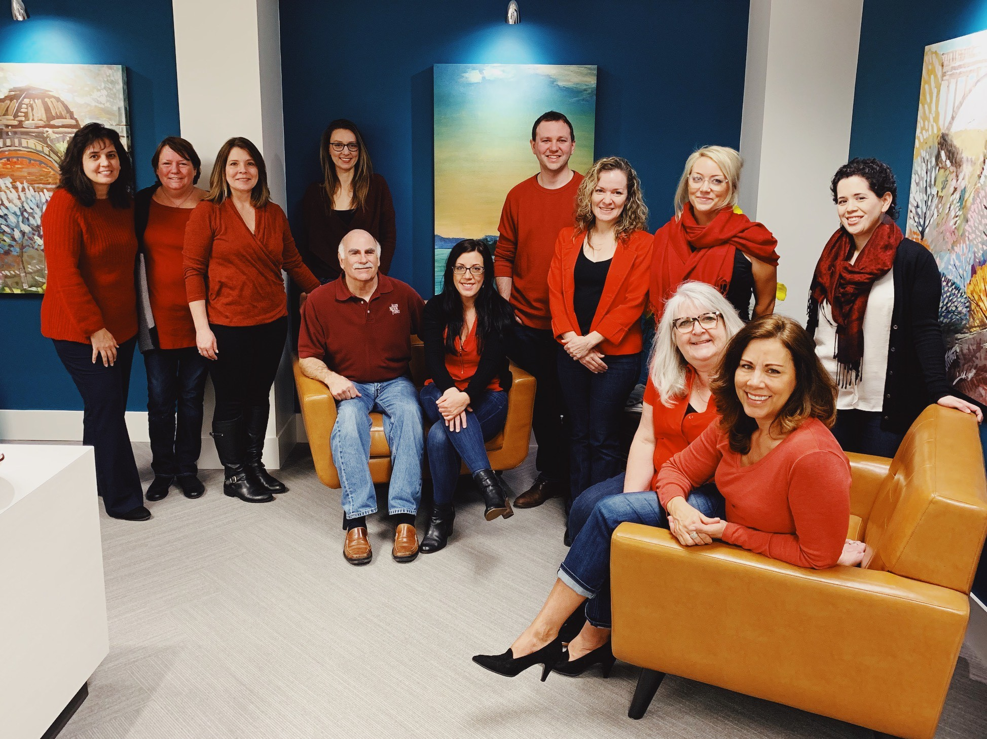 Each year, we wear Red and donate in support of the Go Red for Women initiative.