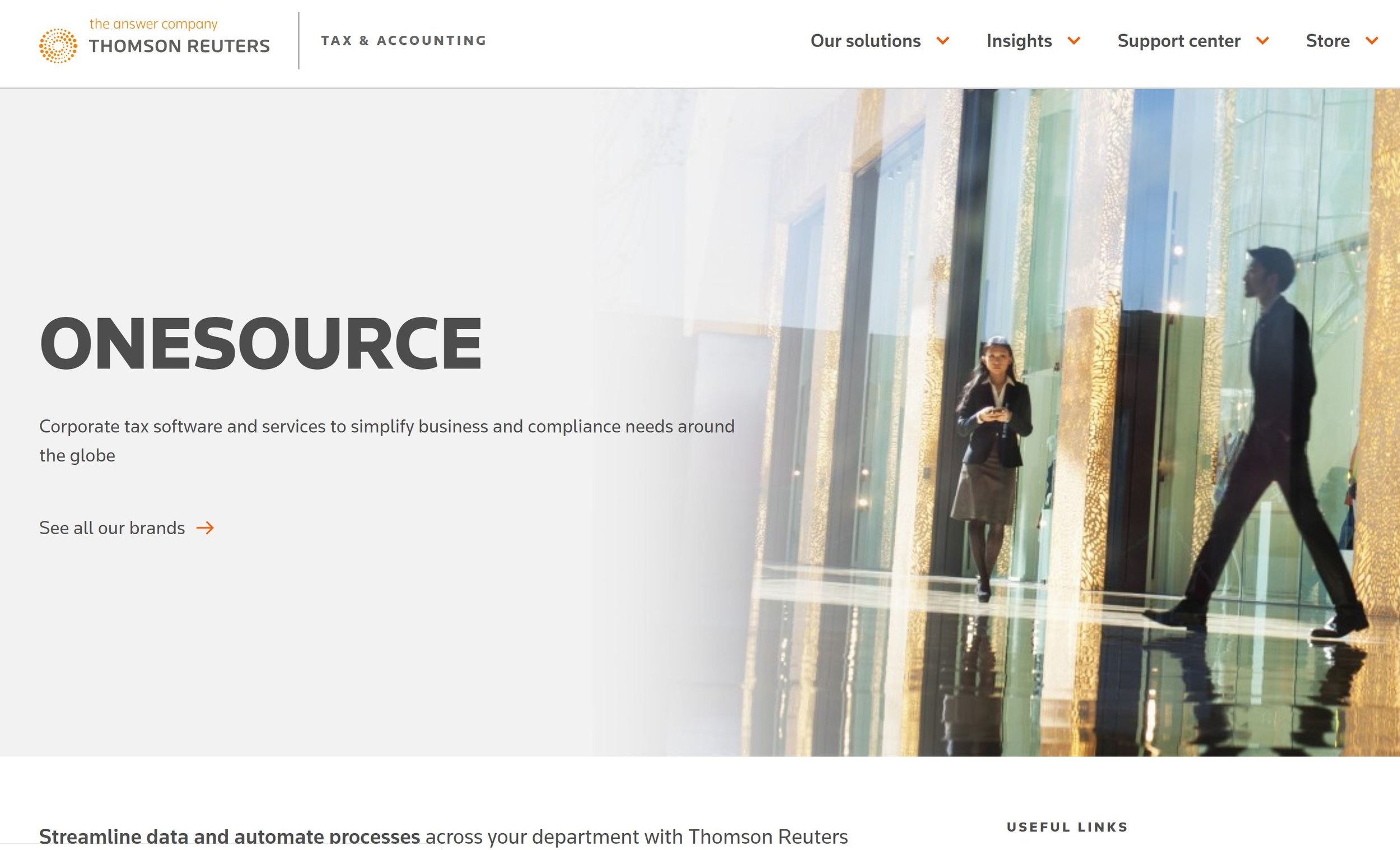 Thomson Reuters Onesource Corporate Tax Software and Services