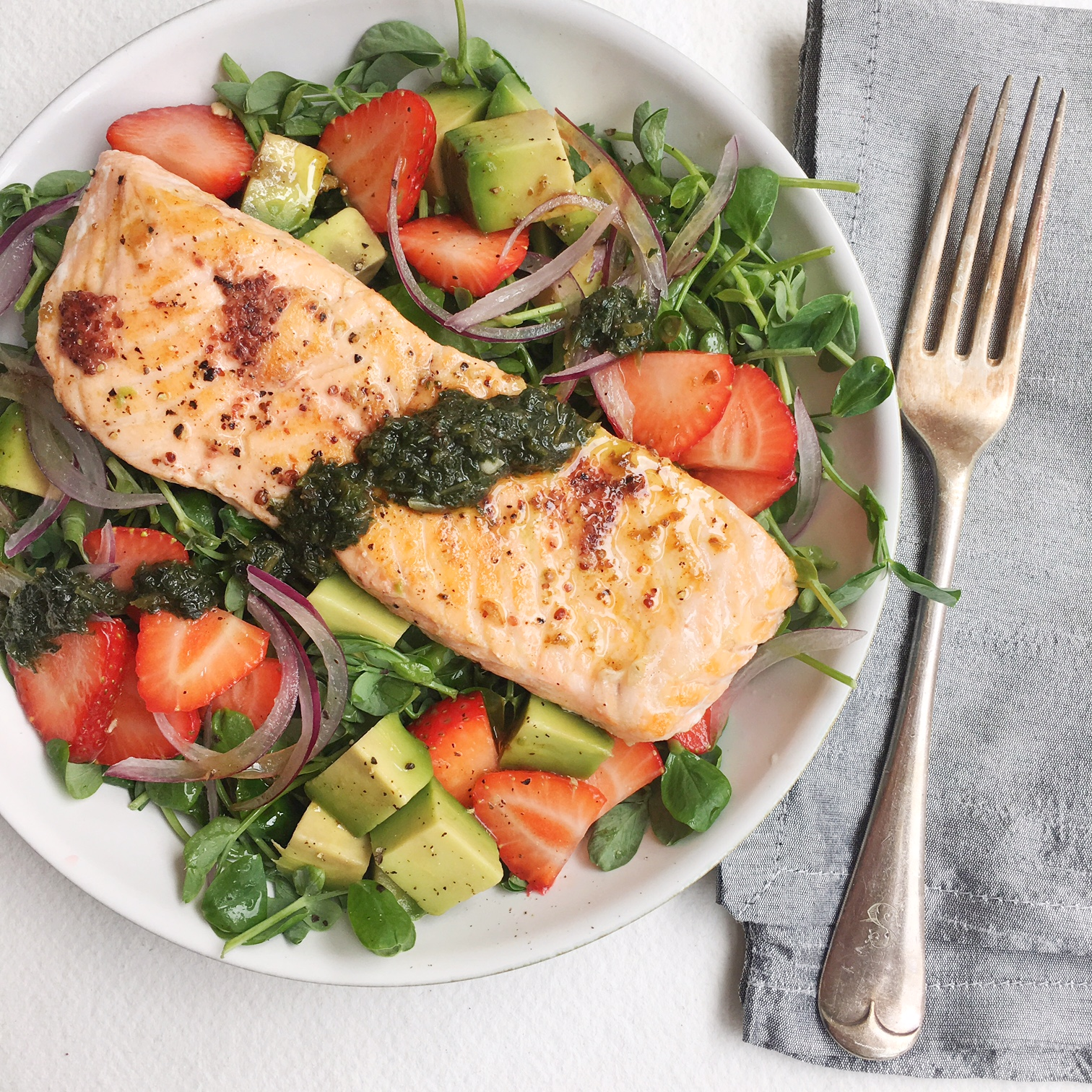 Trout and strawberry salad.jpg
