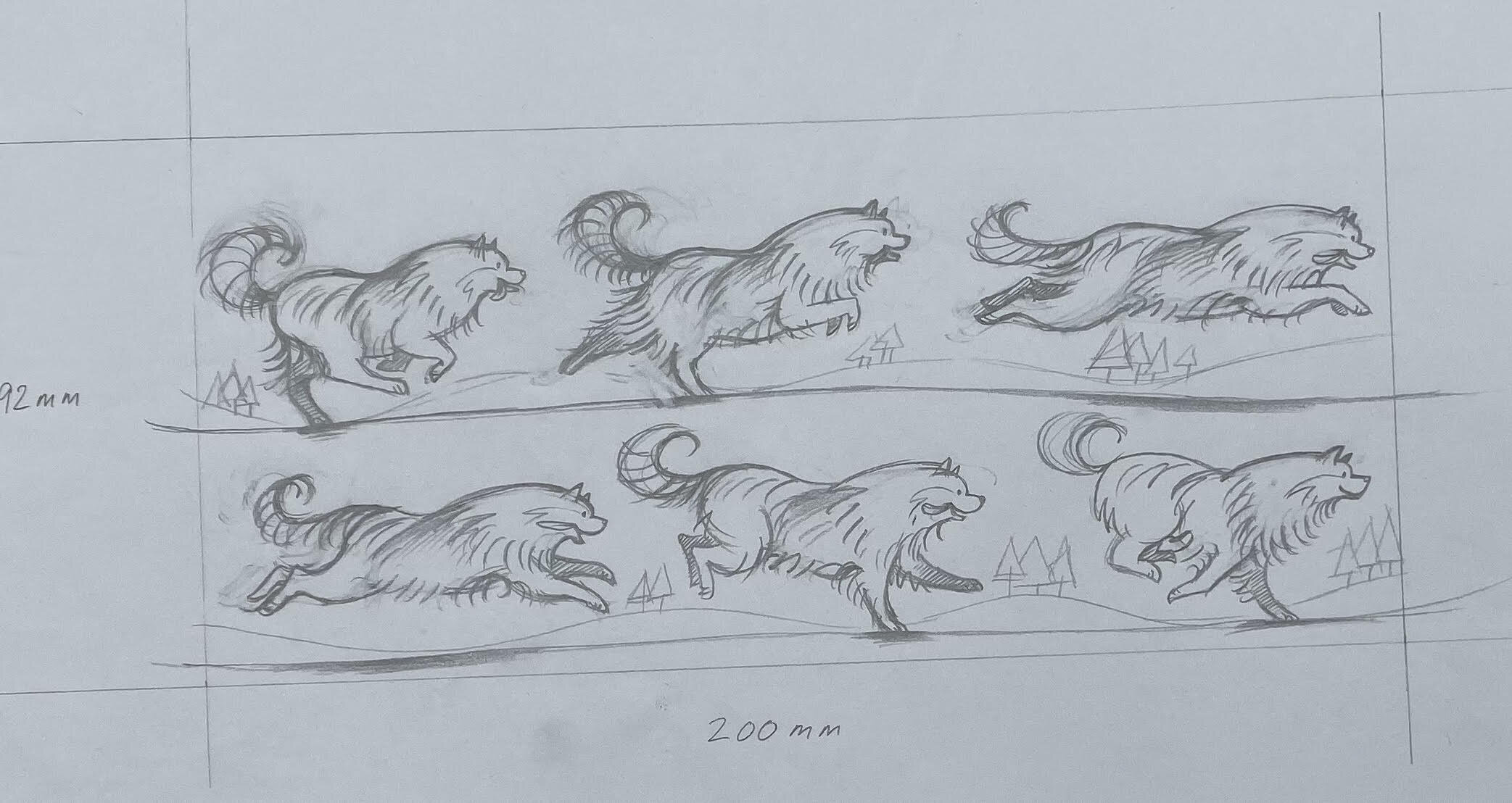 Now I'm going back into drawing movement, and getting into the 'swing' of things again…