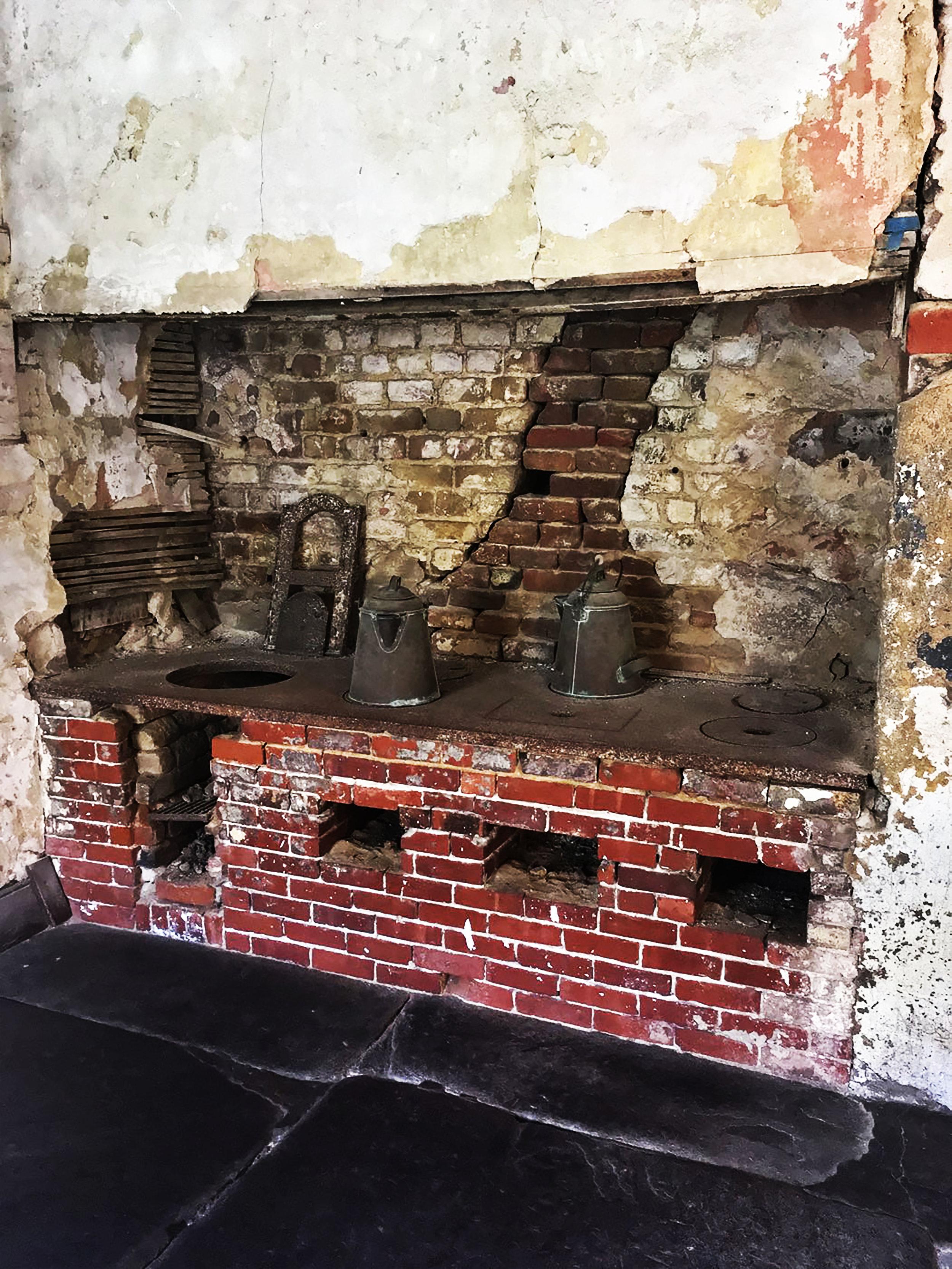 Aiken Rhett House Slave Quarters: Stove on first floor