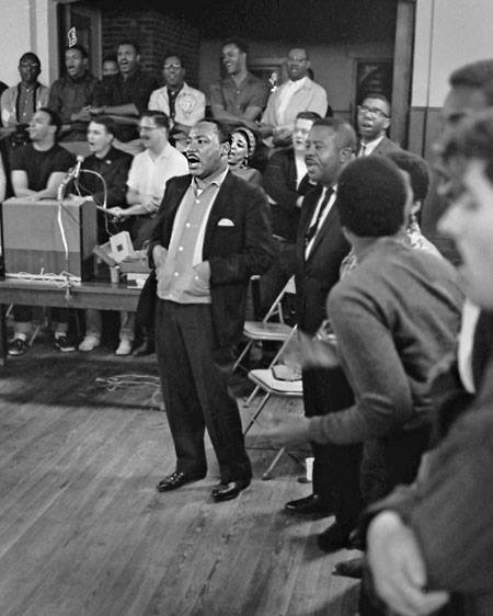 Dr. Martin Luther King Jr. at Penn Center's Frissell Hall on historic St. Helena Island in 1967