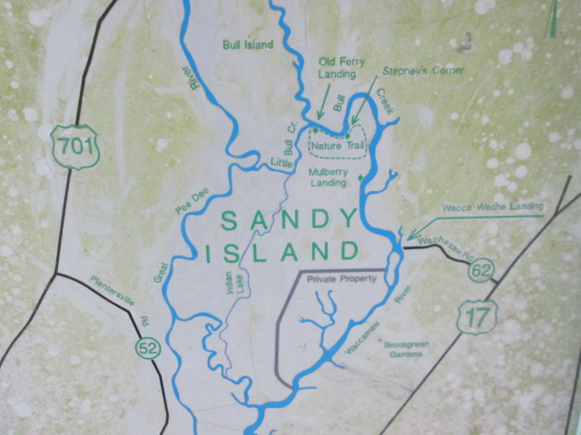 Map of sandy island