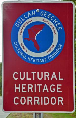Gullah-geechee cultural heritage corridor road sign