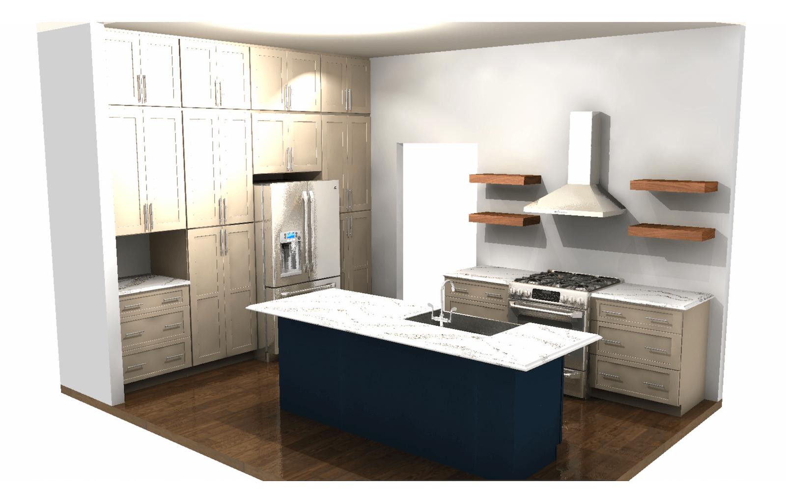 Kitchen Rendering Full View