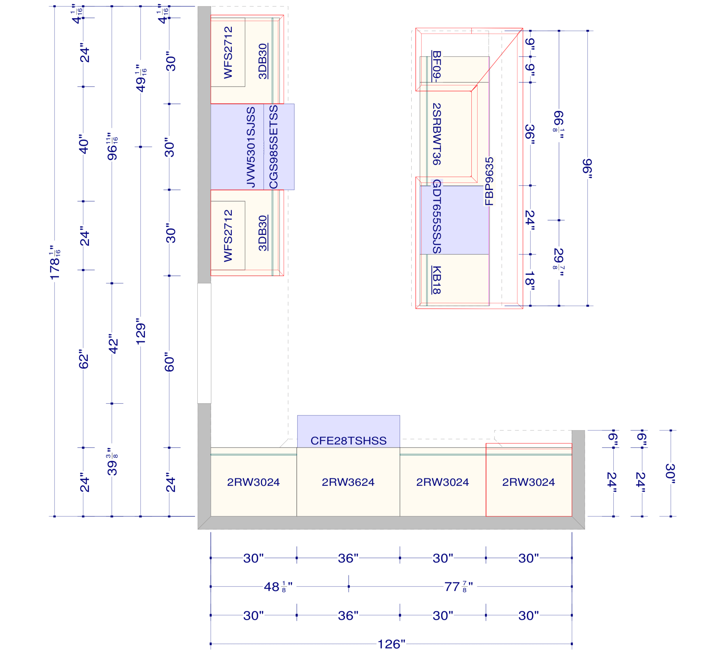 Kitchen Layout with Measurements