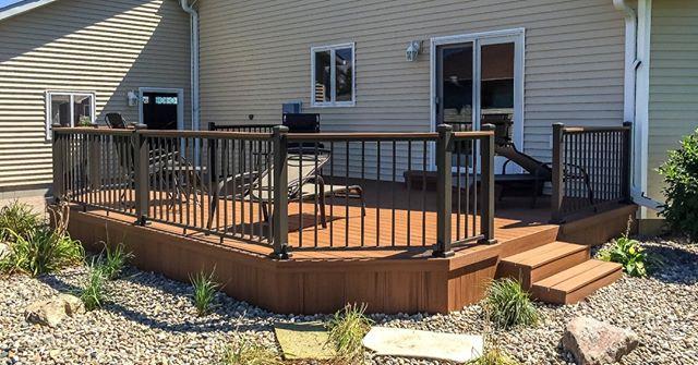 ☀️😎We could see ourselves spending some time here this summer! A new composite deck added to this home by our installation team at Builders FirstSource of Aberdeen, South Dakota. . . #BFSBuilt #installservices #bfsaberdeen #buildersfirstsource  #compositedeck #deckrailing #backyard #backyardoasis #construction #diy #homeimprovement #deck #decks #decking #deckbuilding #deckedout #decked #decklife #DeckDesign #deckbuilder #deckedup #deckview #deckchairs #deckporn #deckbuilders