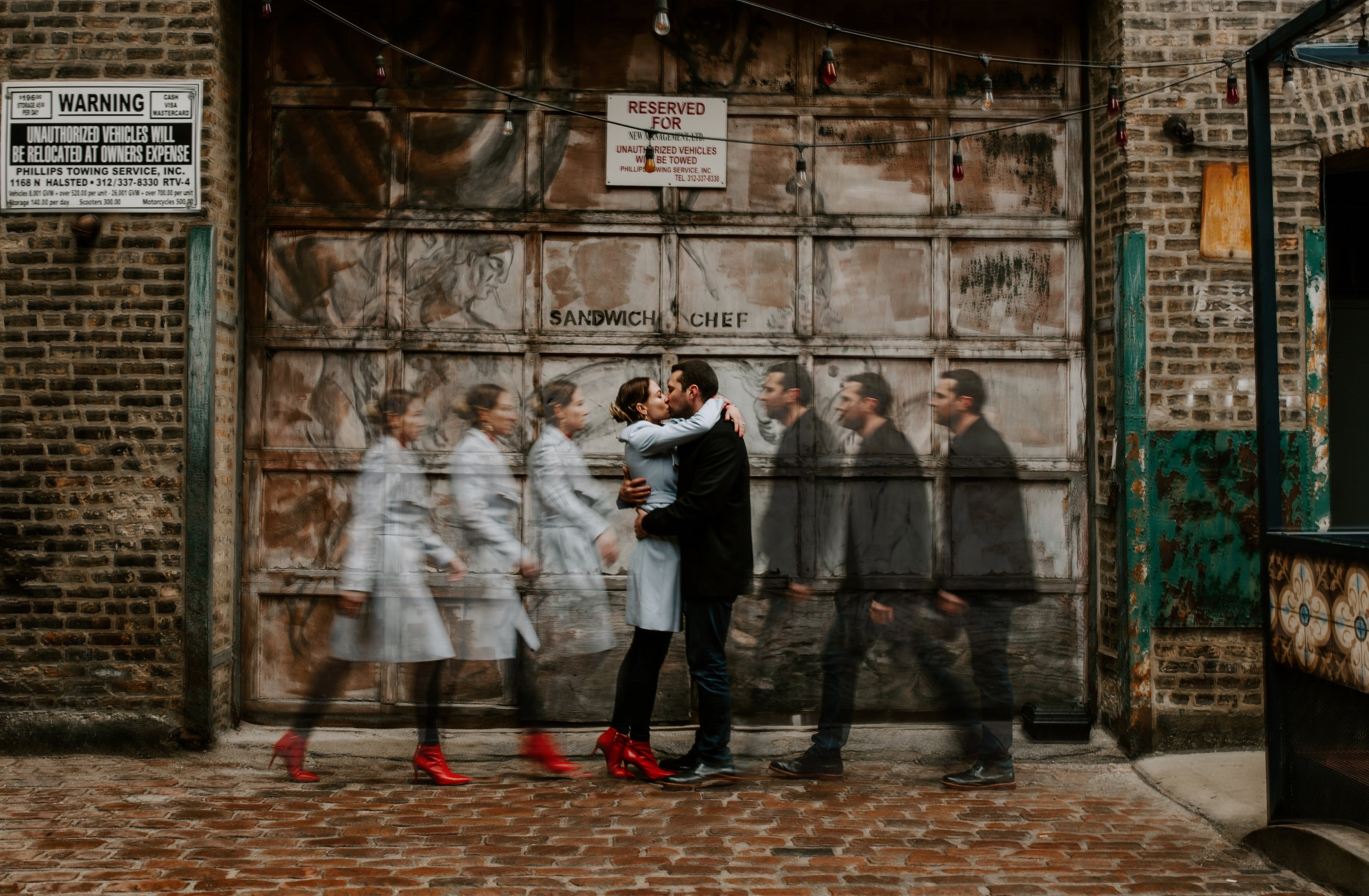 Michael + Lynsey - Fulton Market Engagement Session | Chicago, IL